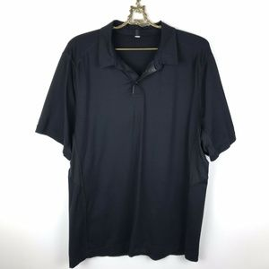 Lululemon Pivot Polo Black Luxtreme Short Sleeve